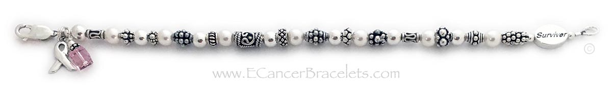 Breast Cancer Survivor Bracelet - CBB-R42